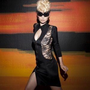 6a4cf3e215 ... Agent Provocateur Lace Panel Erikka Dress Size 2 ...